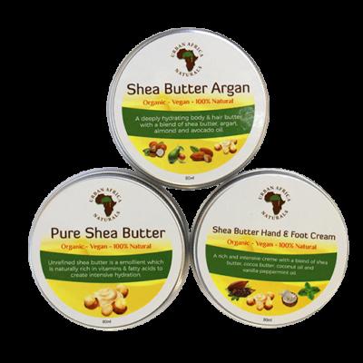 urban africa naturals-shea-butter-sample set-shea-boter